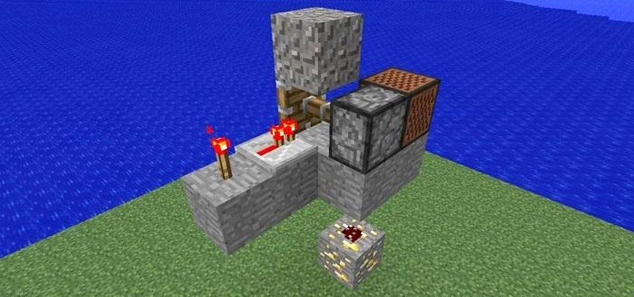 Make a Resource Friendly Floating Block Trap in Minecraft