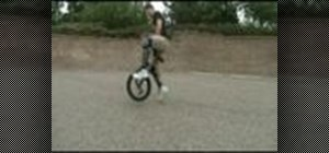 Crankflip on a unicycle without falling