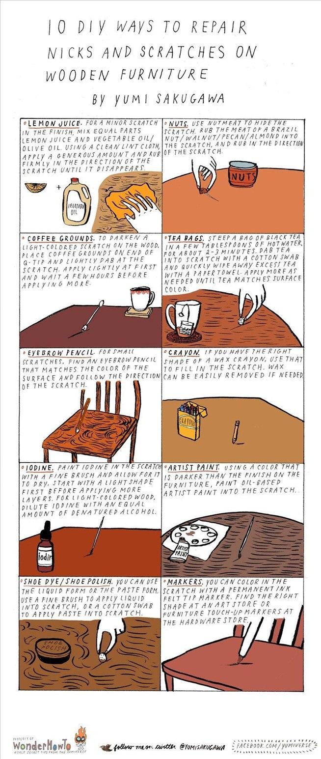 how to fix a wooden door