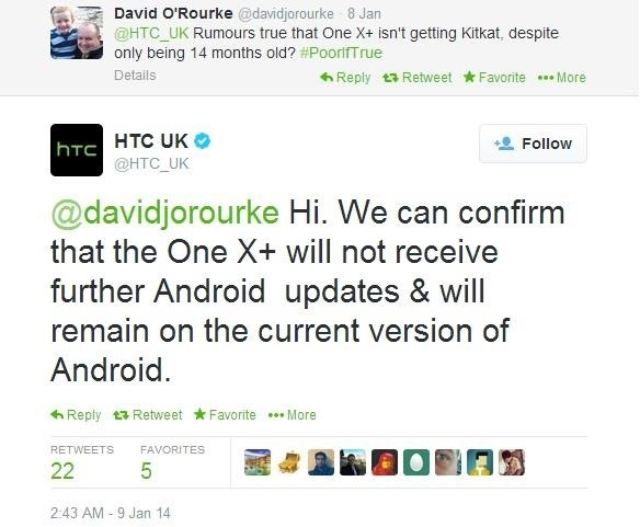 No KitKat for You! HTC Ends the Update Cycle for the One X and One X+