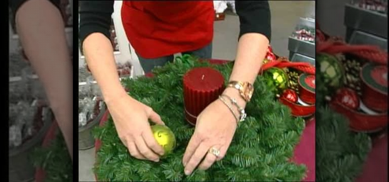 How to craft a christmas wreath candle holder centerpiece for How to make christmas candle holders