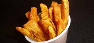 Make baked sweet potato fries