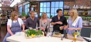Make a whole roasted sea bass with salsa verde with Gwyneth Paltrow