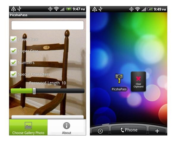 Android App PicshaPass Generates Secure Passwords from Photos