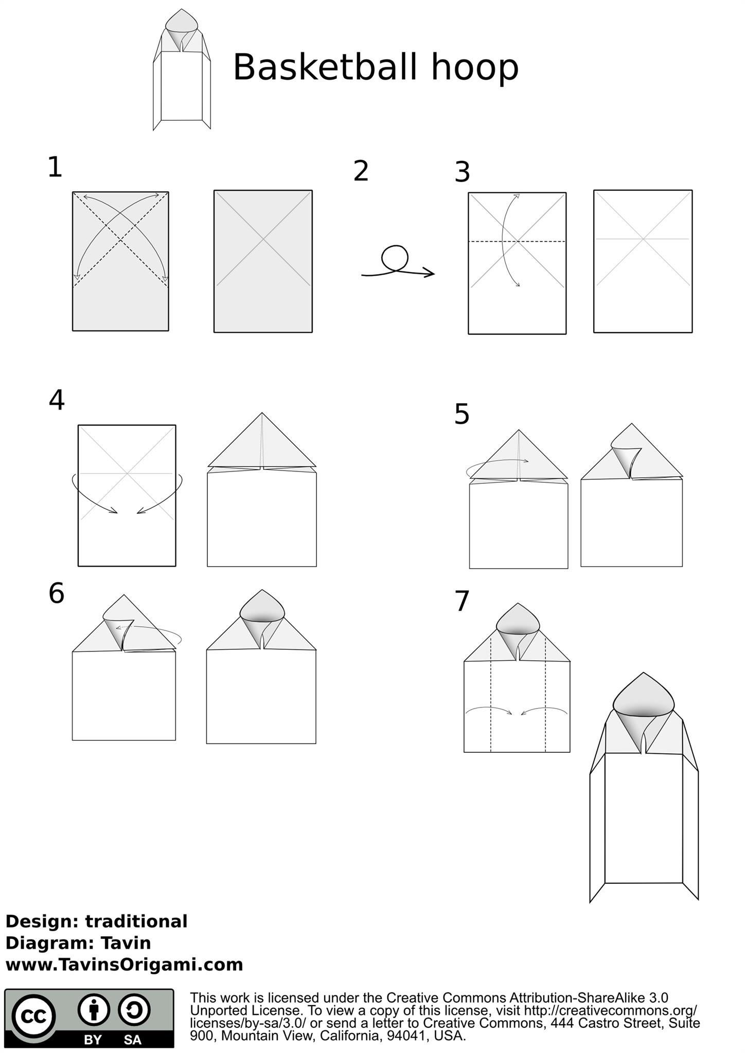 How to make a basketball hoop origami style origami for How to build your own basketball court