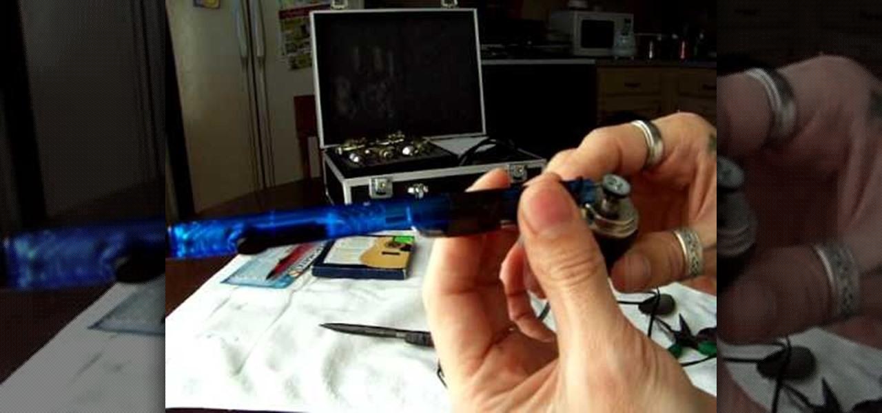 How to make a working homemade tattoo gun tattoo for How to assemble tattoo gun