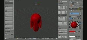 Set up a basic cloth simulation in Blender 2.5