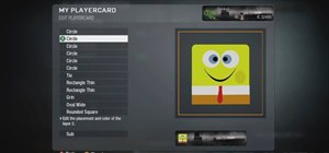 Make a Spongebob Squarepants player card / emblem for Call of Duty Black Ops