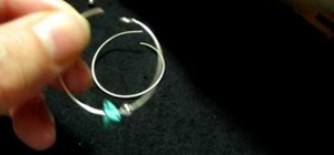 Make simple turquoise hoop earrings