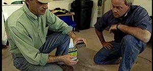 Remove an oil spill in your garage