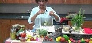 Make and freeze pesto using fresh basil