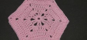 Crochet a solid granny hexagon