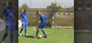 Practice Brazilian soccer skills: The Ronaldo chop