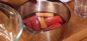 Cook rhubarb trifle
