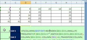 Extract unique records with an array formula in Excel