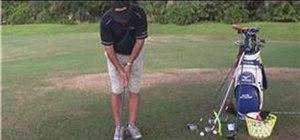 Hit a chip shot in golf