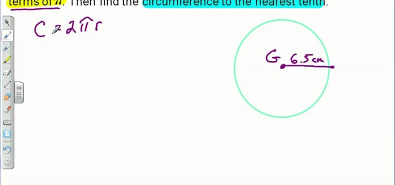 how to find the circumference of a circle using basic math math