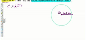Find the circumference of a circle using basic math
