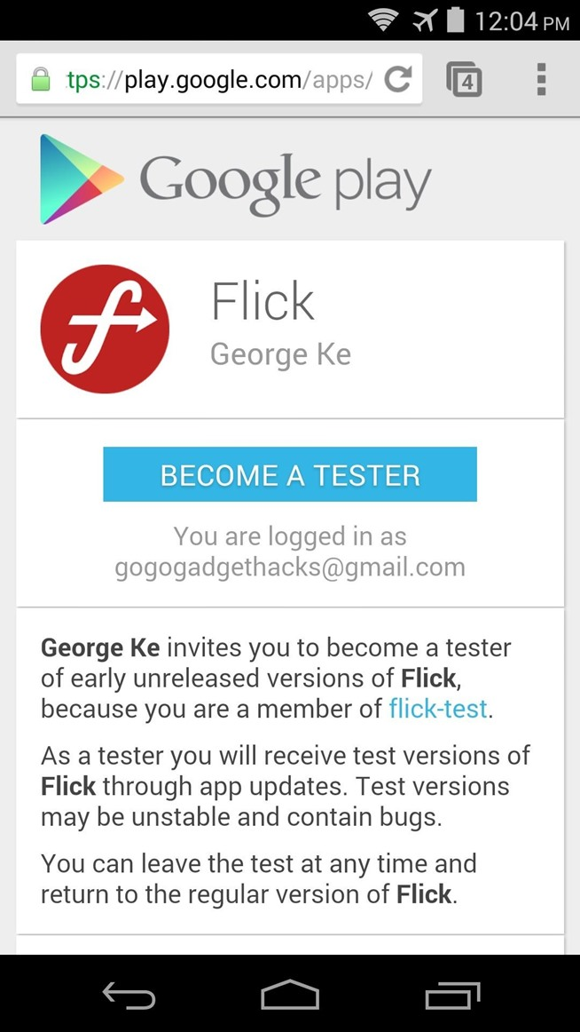 Google play open beta how to find testers