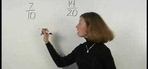 Understand equivalent fractions