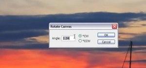 Get a straight horizon in Photoshop