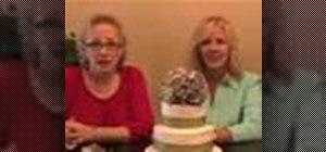 Make a cheap wedding cake topper