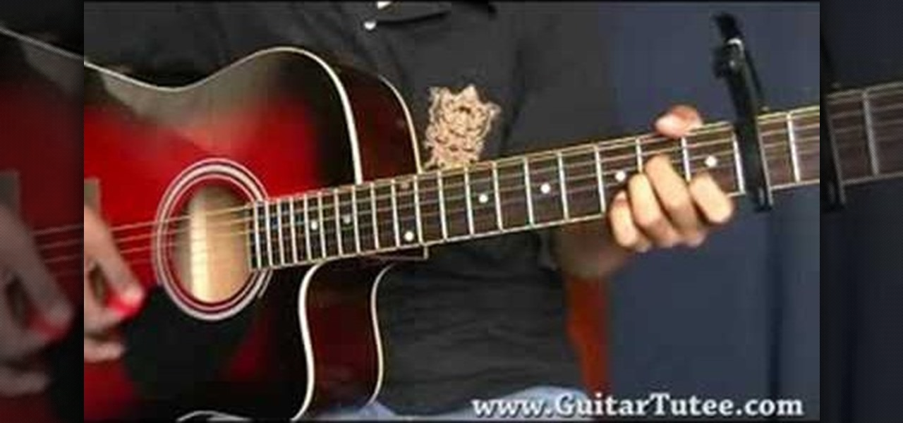 how to play who knew on guitar
