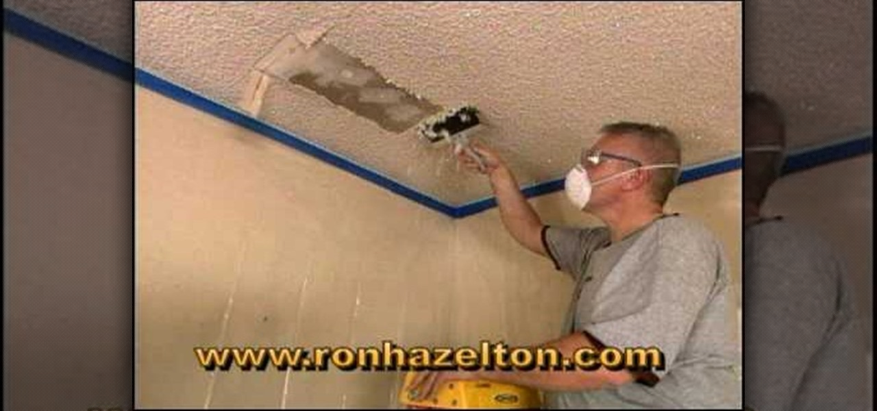 How to remove a popcorn ceiling interior design for How to remove popcorn ceiling without water
