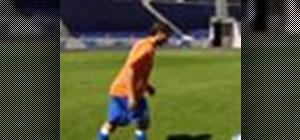 Do the rabona soccer trick with Ricardo Quaresma