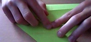 Fold an origami streaked, zig zagging snake