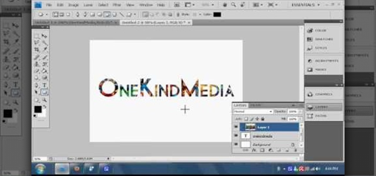 How to insert an image into text in photoshop cs4 photoshop how to insert an image into text in photoshop cs4 photoshop wonderhowto ccuart Image collections