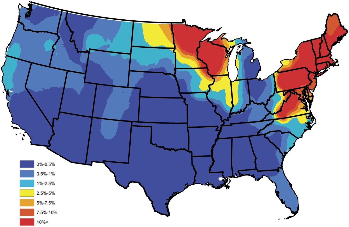 News You Can Use: Map Shows Where Dogs & Humans Are at High Risk of Lyme Disease This Summer