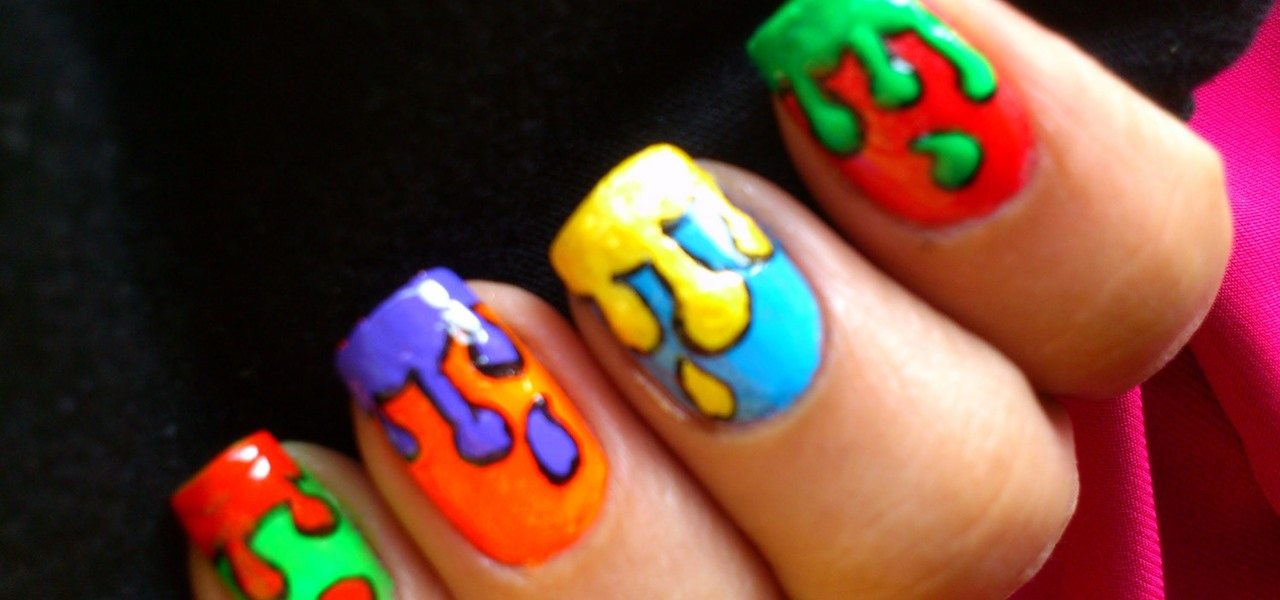 How To Do Dripping Paint Pop Art Nails Nails Manicure Wonderhowto