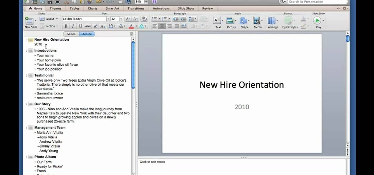 How to create and use outlines in microsoft powerpoint for mac how to create and use outlines in microsoft powerpoint for mac 2011 microsoft office wonderhowto toneelgroepblik Image collections