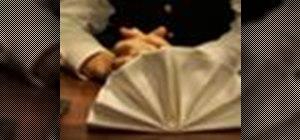 Fold a fan napkin