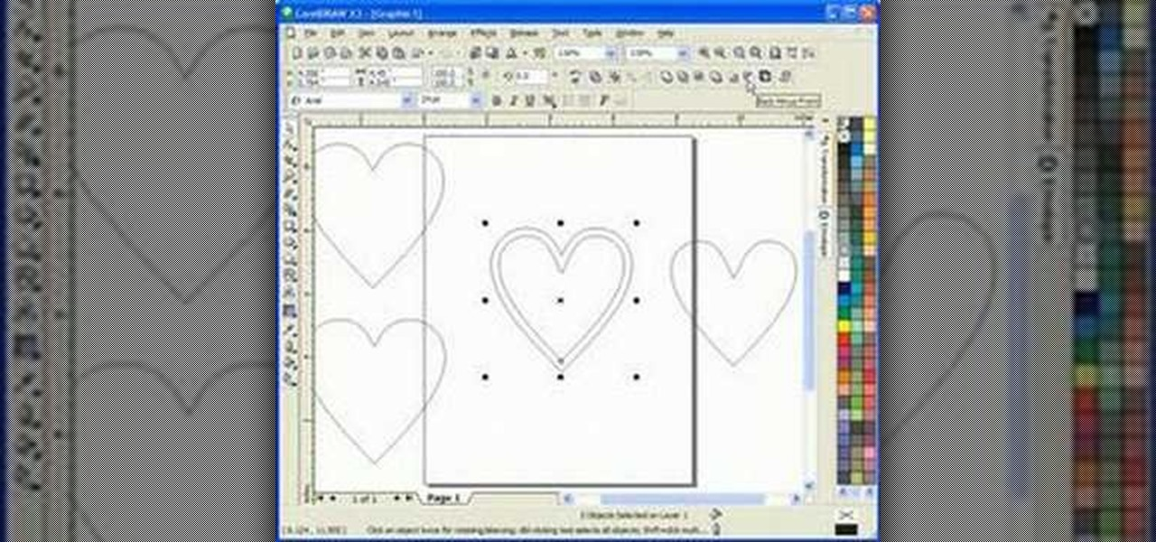 How to Draw a heart box scroll saw pattern in Corel Draw X3 « Software Tips :: WonderHowTo