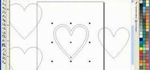 Draw a heart box scroll saw pattern in Corel Draw X3