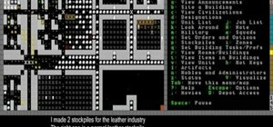 Make leather items like bags and quivers and dig wells in Dwarf Fortress