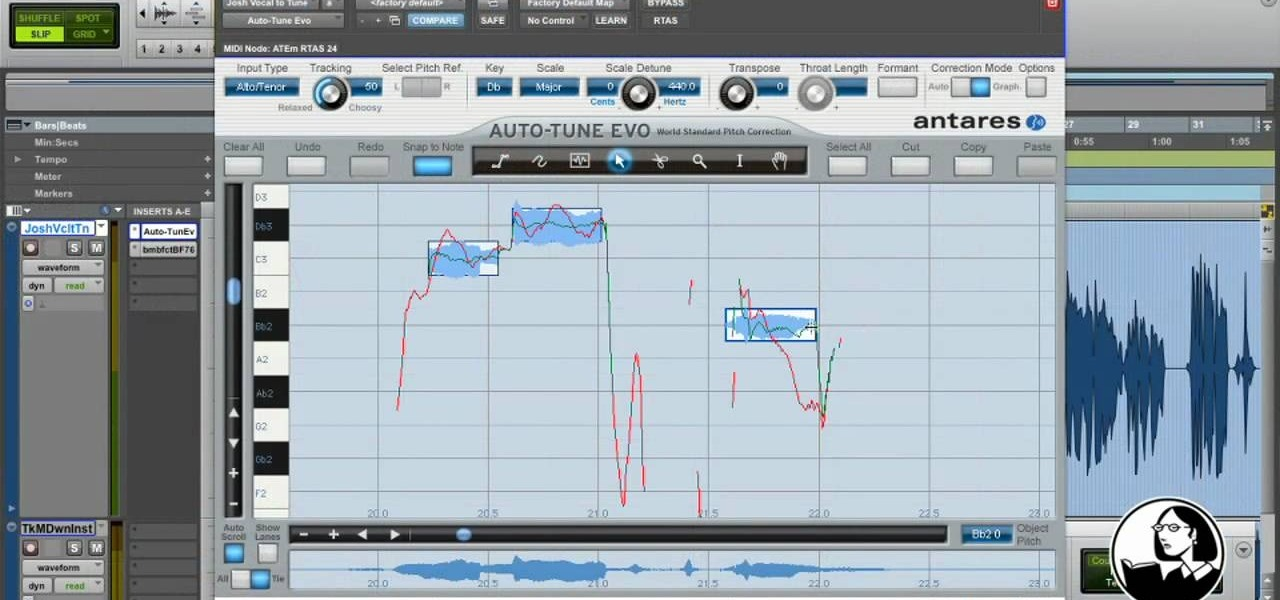 How to Pitch correct with Antares Auto-Tune in Pro Tools 8 « Pro
