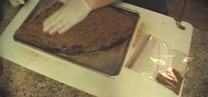 Slow smoke beef brisket