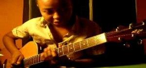 "Play ""Run"" by Snow Patrol on acoustic guitar"