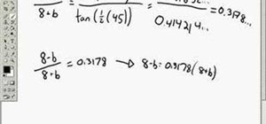 Use the law of tangents in trigonometry