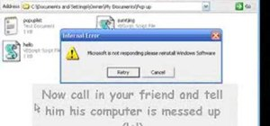 Prank a computer with a fake error message in Windows