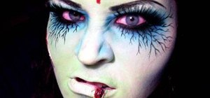 "Apply zombie or ""dead girl"" makeup for Halloween"