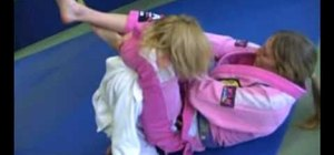 Go from a collar choke to scissor sweep to triangle choke in an MMA fight