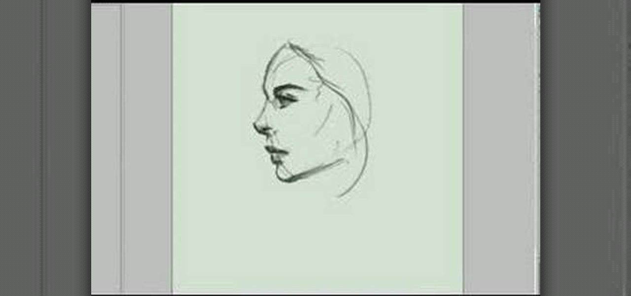 Side Face Line Drawing : How to draw the sideview of a woman s face � drawing