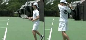 Use shoulder rotation on a windshield wiper forehand