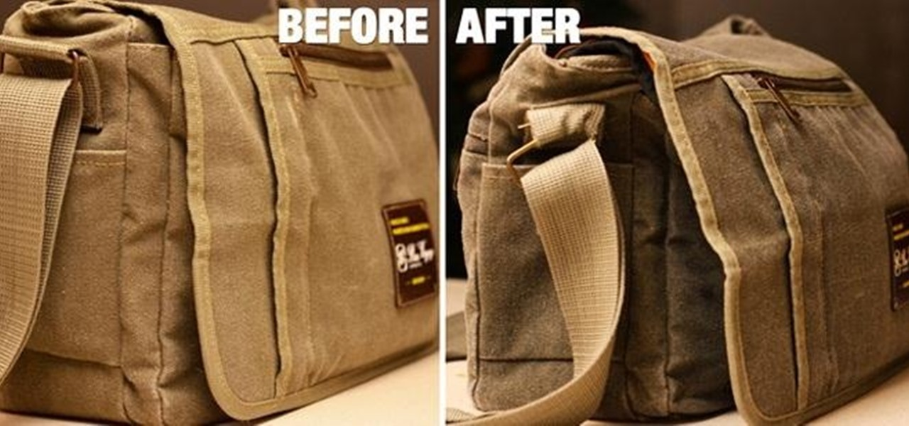 Turn a Canvas Messenger Bag into a Water-Resistant Waxed Camera Case