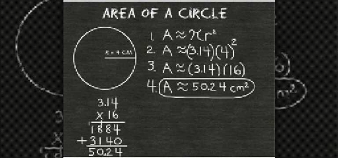 How to find the area of a circle with a given radius math how to find the area of a circle with a given radius math wonderhowto ccuart Images
