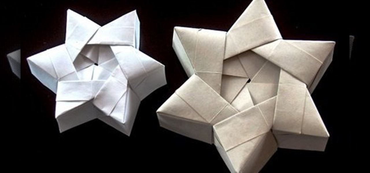 how to origami a christmas star box or hexagonal star box